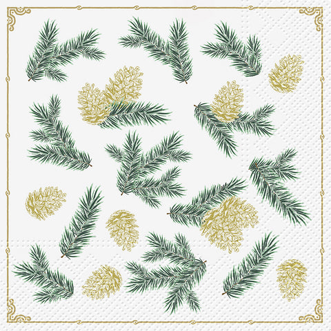 Twigs and Pinecones Paper Napkins