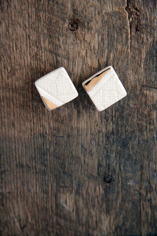 Aurous Square Stud Earrings