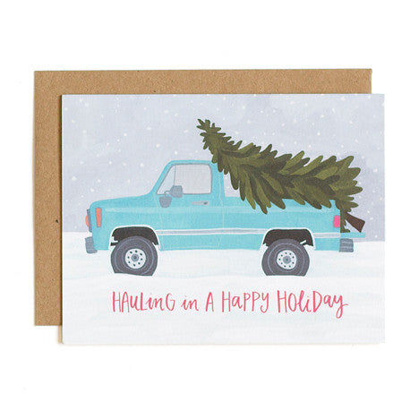 Card - Hauling Truck Holiday