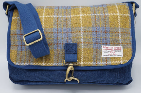 Denim Wash - Harris Tweed Despatch Bag