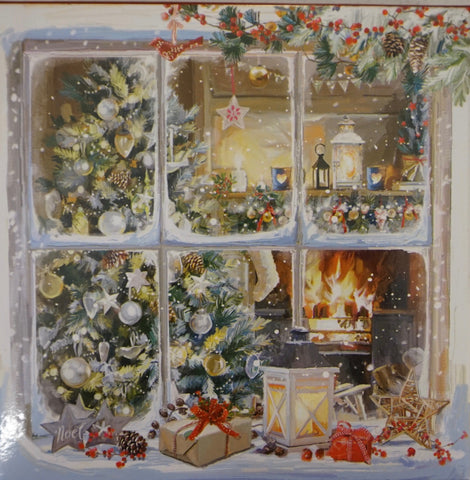 Boxed Cards - Fireplace, Window Scene