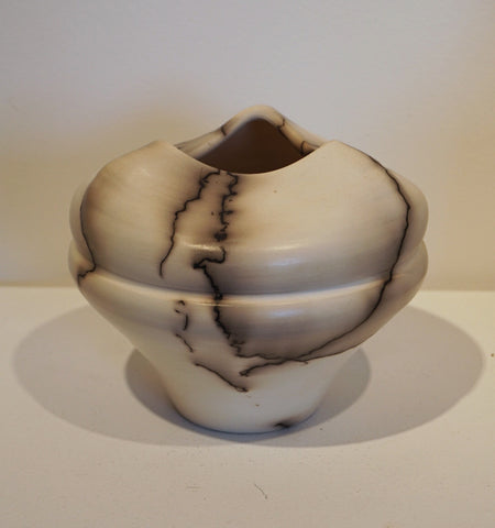 Horse Hair Raku Vessel (Small)