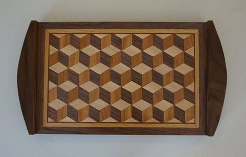 Serving Tray - Tumbling Block