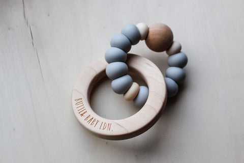 Single Ring Maple Rattle (more colours available)