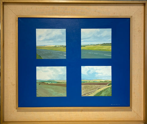 Fragments of a Landscape, Cerulean Blue, Road to Oxford