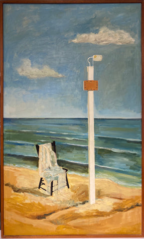 Untitled (beach scene with chair)