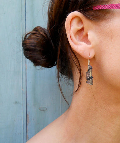 Oxi Rustico Spiral Earrings