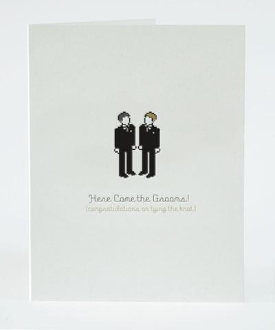 Card - Here Come the Grooms