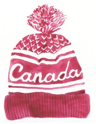 Card - Red Canada Hat
