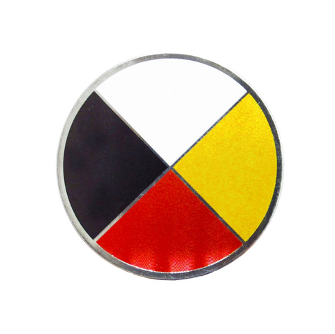 Medicine Wheel Metallic Magnet