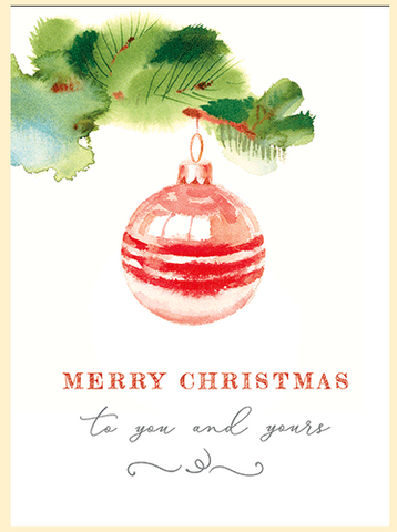 Card - Merry Christmas To You and Yours