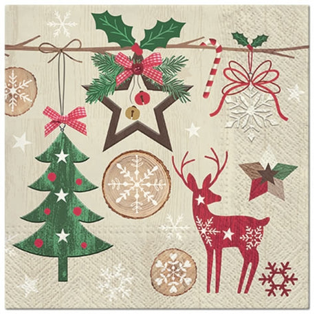 Rustic Christmas Paper Napkins