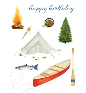 Card - Camping Birthday