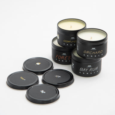 Bundle of 4oz scented candle with essential oils and soy wax