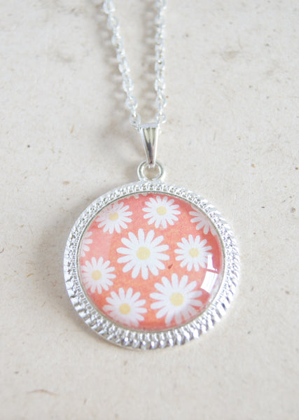 Coral Flower Necklace