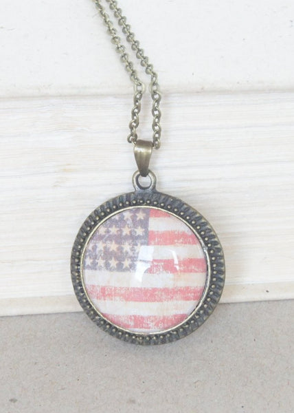 Flag Pendant Necklace