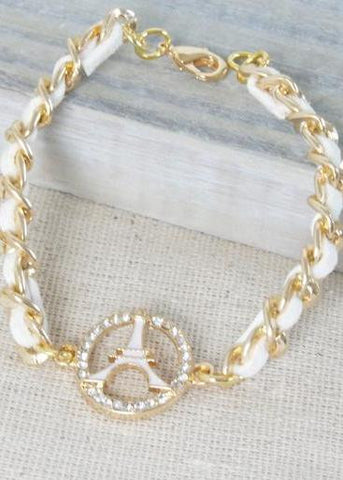 Paris White and Gold Bracelet