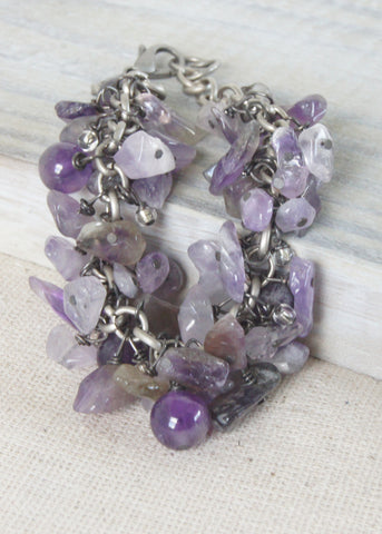 Amethyst Dangle Bracelet