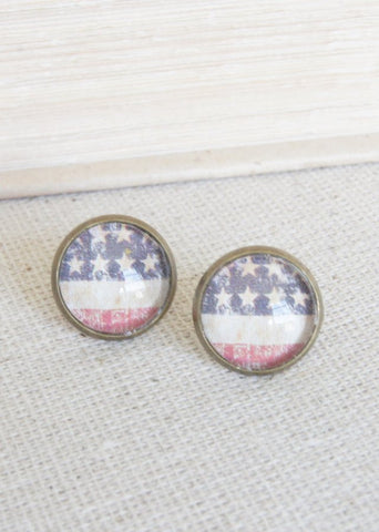 American Bronze Stud Earrings