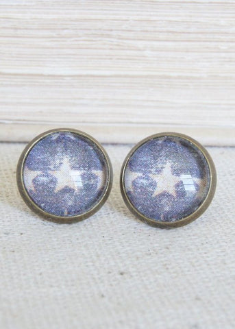 Star Bronze Stud Earrings