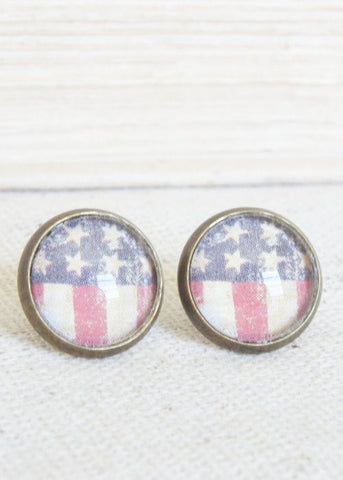 American Stripes Stud Earrings