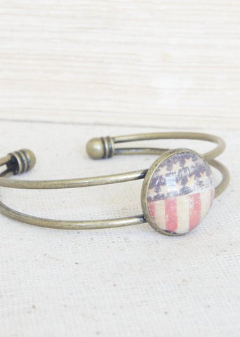 Stars and Stripes Bangle Bracelet