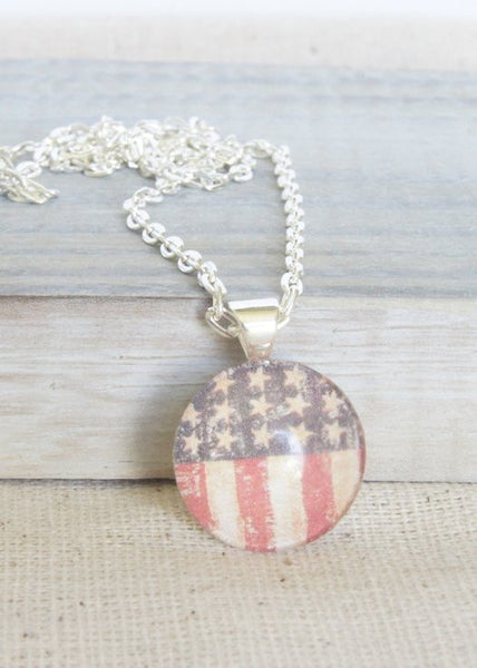 Stars and Stripes Little Pendant Necklace