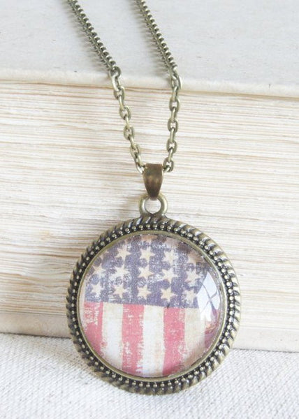 Stars and Stripes Pendant Necklace