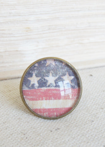 Stars & Stripes Bronze Ring
