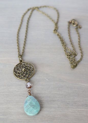 Ruby Fuchsite Long Necklace