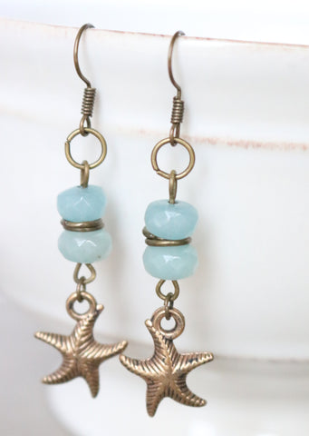 Amazonite Starfish Earrings