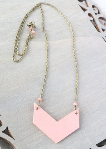Pink Chevron Necklace