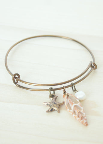 Piece of the Beach Bangle Bracelet