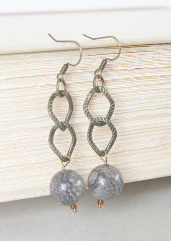 Agate Drop Earrings