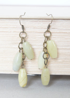 New Jade and Bronze Earrings