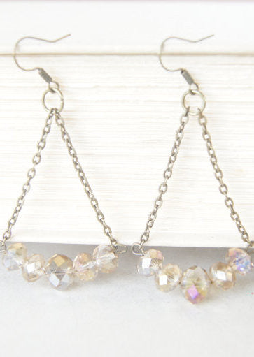 Light Topaz Color Earrings