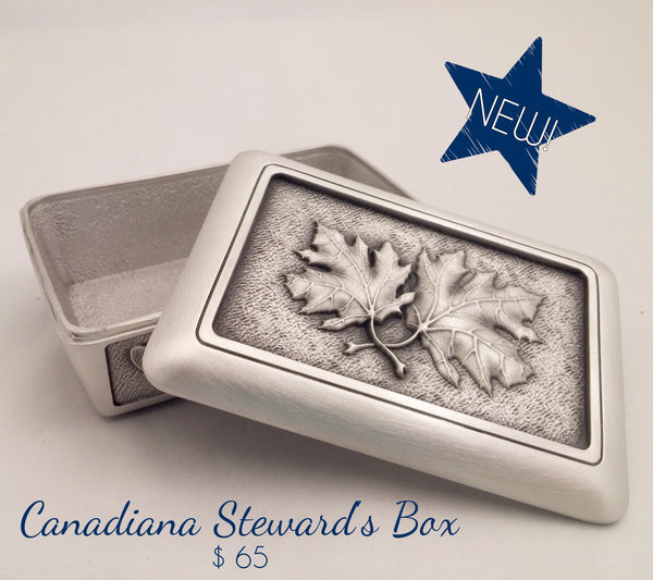 pewter maple leaf memory box
