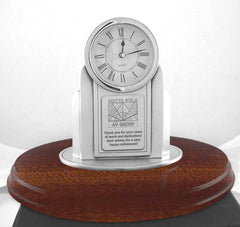 custom clock pewter clock