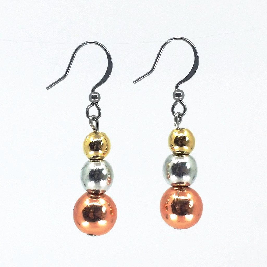 Tricolour Pearl Earrings