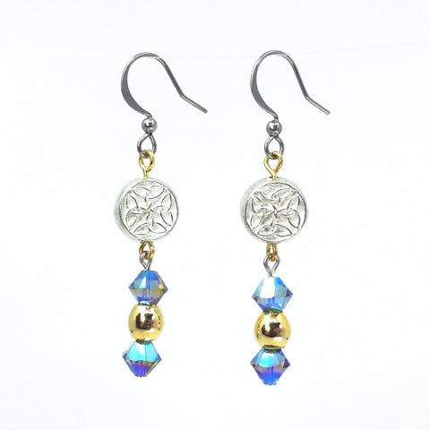 Swarovski Crystal Celtic Sky Earrings