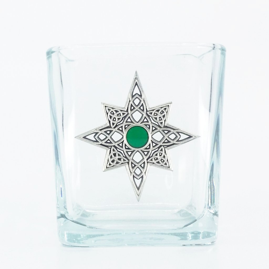 A Celtic Christmas Glass Votive