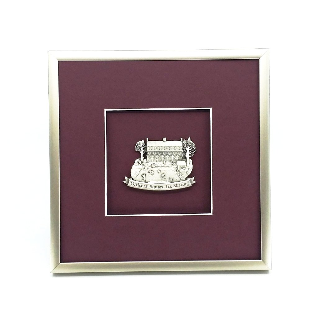 Framed Wintertime in Officers Square Ornament