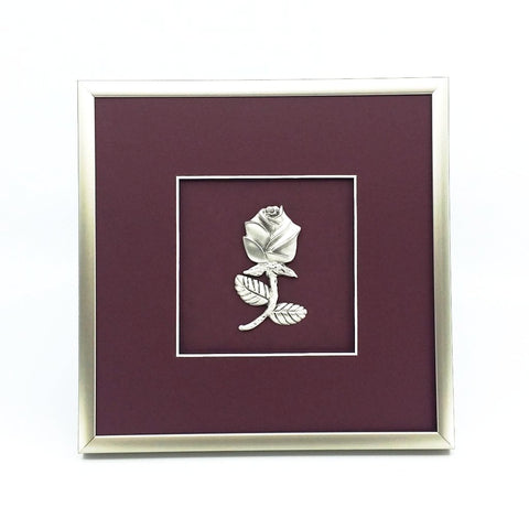 Framed Large Rose Crest