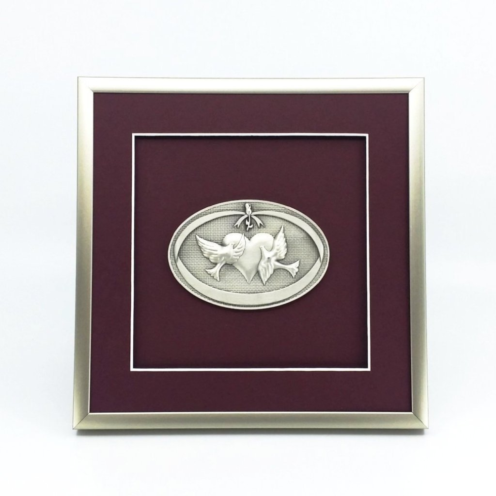 Framed Wedding Oval Crest