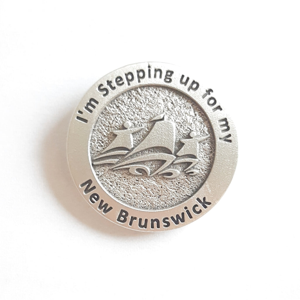 Stepping up for New Brunswick Lapel Pin