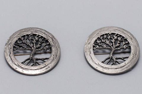 Tree of Life pewter Brooch