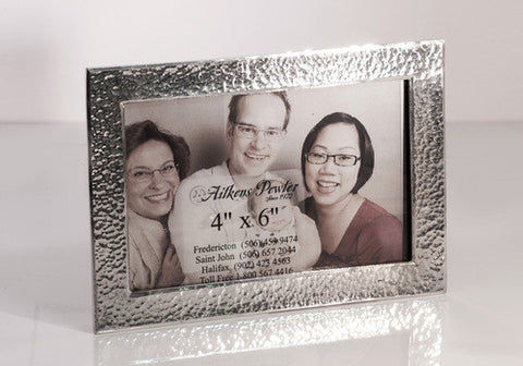 4x6 Hammered Pewter  Picture Frame