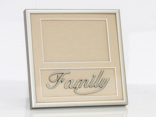 "7.5"" x 7.5"" Family Frame Pewter"