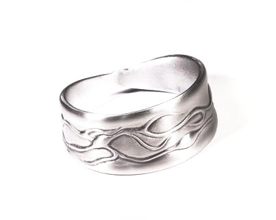 Alma Pewter Napkin Ring with wave design