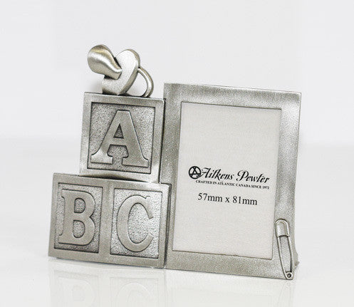 Baby Blocks Pewter Frame